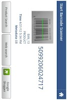 Screenshot of start barcode scanner
