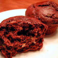 Fat Free Chocolate Zucchini Muffins