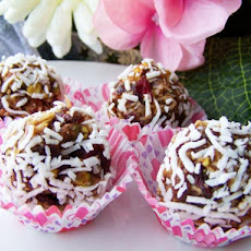 White Chocolate Fruit and Nut Truffles