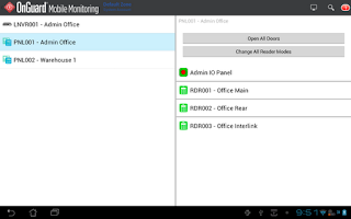 Screenshot of OnGuard Mobile Monitoring