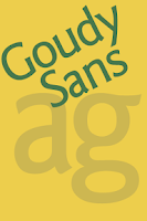 Screenshot of Goudy Sans FlipFont