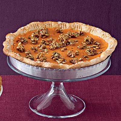 Sweet Potato Pie with Pumpkinseed Crunch
