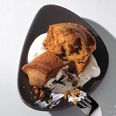 Kabocha Squash Cake with Brown Sugar Cream