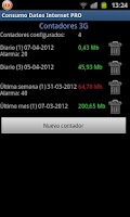 Screenshot of Consumo Datos Internet PRO