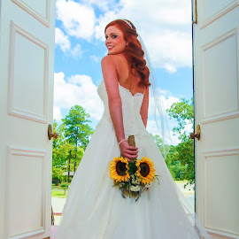 Bride by Mitch Lassiter - Wedding Bride ( vass, blue sky, wedding, marriage, bride )