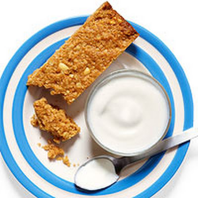 Sweet & Salty Granola Energy Bars with Yogurt