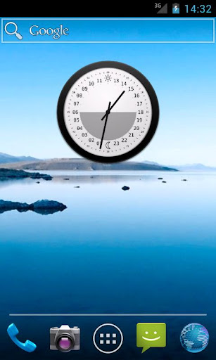 24h Analog Clock Widget