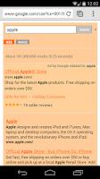 Screenshot of Orange Search for Google™