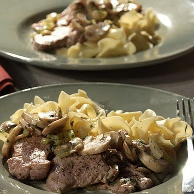 Pork Scaloppine with Mushrooms