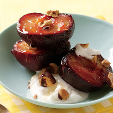 Roasted Plums with Greek Yogurt