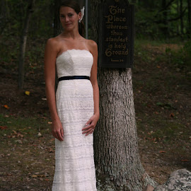 Danielle by the tree by Chilly Pup - Wedding Bride ( shrine mont, retreat, bridal, wedding, virginia )