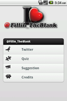 Screenshot of Fillin The Blank