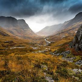 Through Glencoe by Strange Jazzy - Landscapes Mountains & Hills ( ecosse_highlands_glencoe_path_2014, path, nature, landscape )