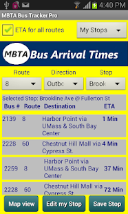 MBTA Bus Tracker Pro - screenshot