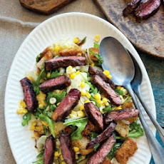 Grilled Skirt Steak with Fennel Panzanella Salad