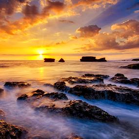 Melasti Rocks by Hendri Suhandi - Landscapes Sunsets & Sunrises ( bali, sunset, beach )