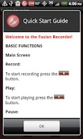 Screenshot of Fusion Recorder