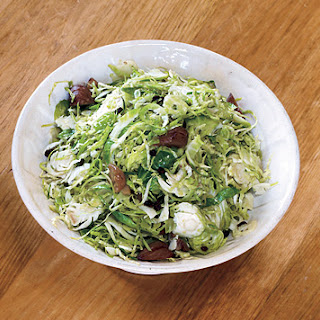 Shaved Brussel Sprouts with Currants and Chestnuts