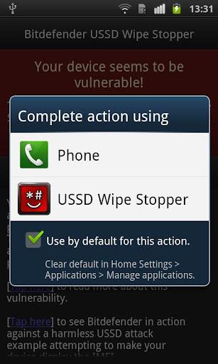 Bitdefender USSD Wipe Stopper