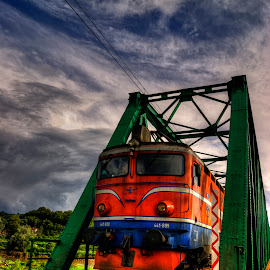 Train by Dragan Duric - Transportation Trains ( hdr, train, bridge )