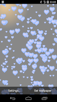 Screenshot of Simple Hearts Live Wallpaper