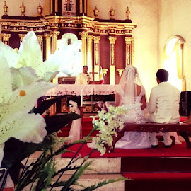 Wedding is a ceremony. Marriage is lifetime. #CamaligChurch by Bebs Morota - Wedding Ceremony