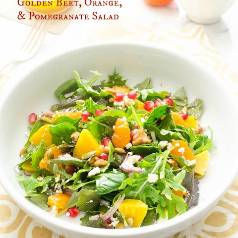 Golden Beet, Orange, and Pomegranate Salad