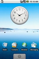 Screenshot of Chrome Clock Widget 2x2