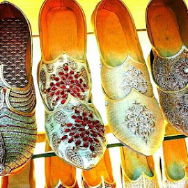 Indian Traditional shoes  by Abdul Salim - Artistic Objects Clothing & Accessories ( shoes, macro, colorful, indian, traditional )