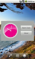 Screenshot of Pink Analog Clock
