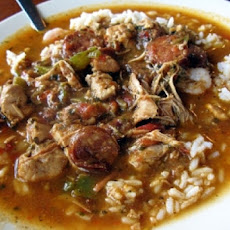 Seafood and Turkey-Sausage Gumbo