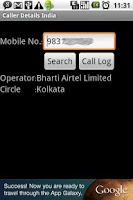 Screenshot of Caller Details India