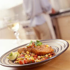 Salmon With Corn-and-Tomato Salsa