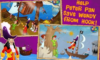 Screenshot of Peter Pan Kids Storybook