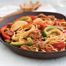 Spaghetti With Sausage and Peppers