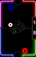 Screenshot of Glow Air Hockey Plus