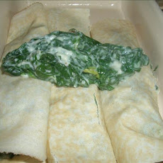 Pancakes (Crepes) Filled With Spinach (Filling Only)