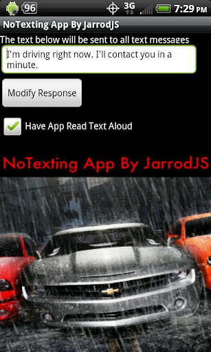 NoTexting While Driving