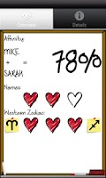 Screenshot of Love %: Affinity Calculator