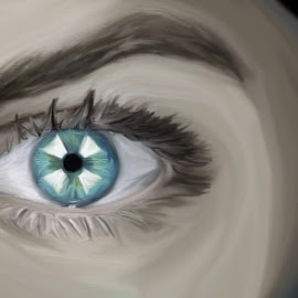 Resident Evil Eye by Mone Ehlers - Painting All Painting ( fantasy, gaming, resident evil, art, sci-fi )