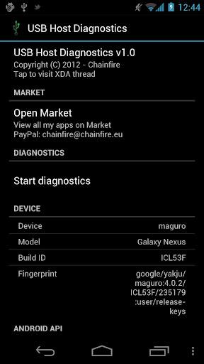 USB Host Diagnostics
