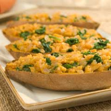 Twice-baked Sweet Potatoes Florentine