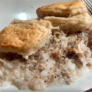 Chicken & Rice With Biscuits On Top