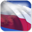 3D Poland Flag + icon