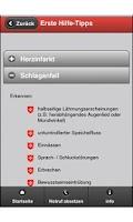 Screenshot of Erste-Hilfe-App