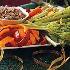 Winter Crudites with Walnut-Garlic Dip