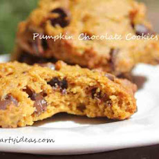 Chocolate Chips Pumpkin Cookies