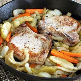 Roasted Pork Chops With Fennel and Apples