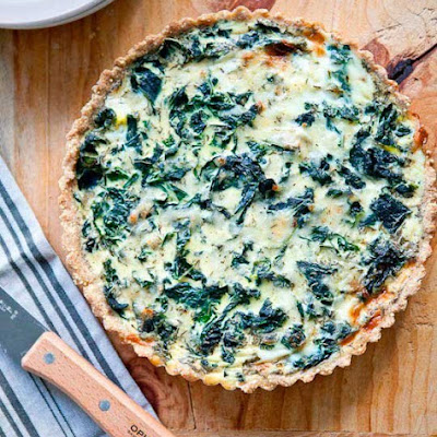 Winter Greens & Gruyere Tart with Cornmeal-Millet Crust