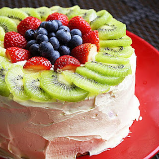 Fresh Fruit Angel Food Cake